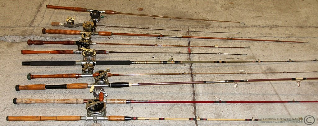 Vintage fishing gear rc airplane photo gallery for Vintage fishing poles