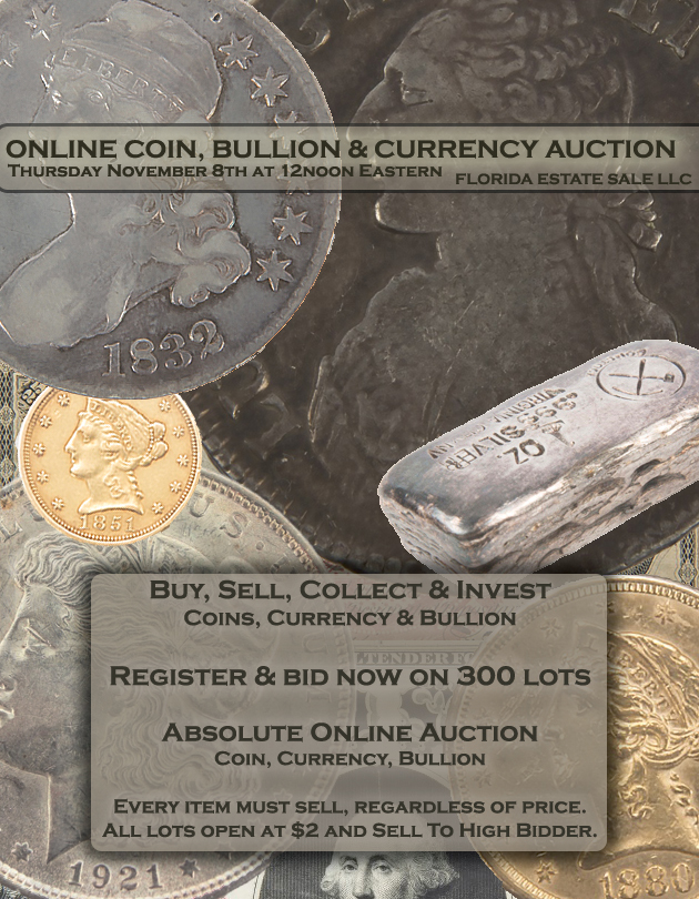 Buy, Sell, Collect, Invest - Coin & Currency Auction - Buy