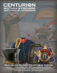 Military & Wartime Collectibles Auction - 2 Day   Civil War, Indian Wars, WWI, WWII, Vietnam