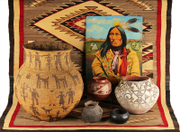 Native American | Pottery, Baskets, Blankets, Rugs, Artifacts, Jewelry
