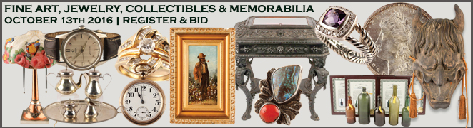 ART JEWELRY COLLECTIBLES MEMORABILIA AUCTION OCTOBER 2016