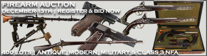 FIREARM AUCTION - Bid Now Buy Antique Moden Military Class 3 NFA Firearms