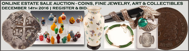 Online Estate Sale Auction Buy Art Jewelry Coins December 2016