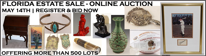 FLORIDA ESTATE SALE ONLINE AUCTION MAY 14 2016