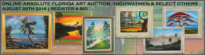 ABSOLUTE FLORIDA ART AUCTION AUGUST 2016