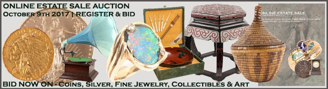 Online Florida Estate Sale Fine Diamond Jewelry Coins Sterling Silver Art Collectibles October 9 2017