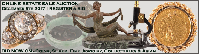 Online Florida Estate Sale Fine Jewelry Sterling Silver Coins Chinese Arts Collectibles December 6 2017