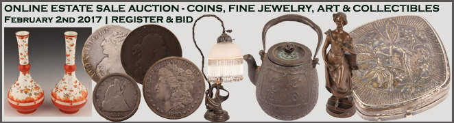 Online Estate Sale Auction Buy Art Jewelry Coins February 2017