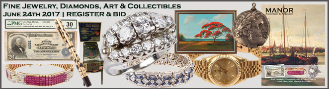 Fine Jewelry Diamonds Art Collectibles June 2017