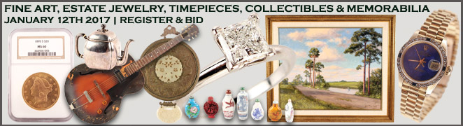 Online Fine Art Jewelry Collectible Auction January 2017