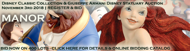 Disney Classic Collection Giuseppe Armani Disney Statuary Auction October 2018