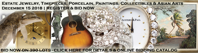 Diamond Jewelry Watches Porcelain Art Florida Highwaymen Paintings Collectibles Auction Dec 2018