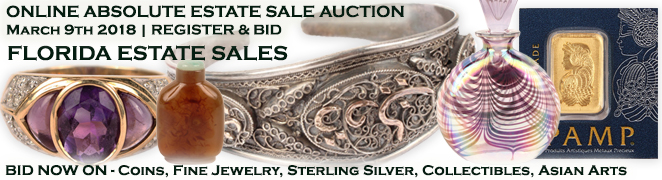 Buy Sell Estate Sale Auction Gold Silver Coins Estate Diamond Jewelry Art Collectibles Asian March 9 2018