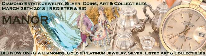 Diamond Jewelry Silver Coins Art Watches Collectibles Auction BID NOW