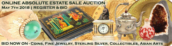 Buy Sell Estate Sale Auction Gold Silver Coins Estate Diamond Jewelry Art Collectibles Asian May 7 2018