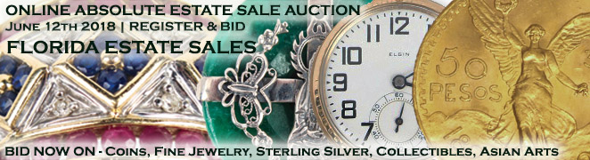 Buy Sell Estate Sale Auction Gold Silver Coins Estate Diamond Jewelry Art Collectibles Asian June 12 2018