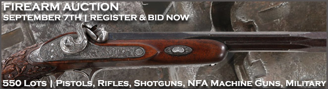 Firearm Auction Collection Pistols Shotguns Rifles Machine Gun Banner 918 FES