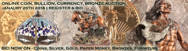 Buy Sell Collect Coin Bullion Currency Bronze Absolute Online Auction January 2018 Featured