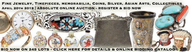 Jewelry Watch Sterling Silver Asian Arts Collectibles Absolute Online Auction Vero Beach Florida April 20th